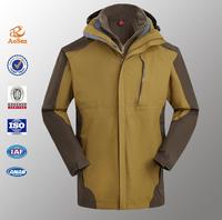 Mens 3 in 1 Waterproof Windproof Windbreaker Outdoor Jacket