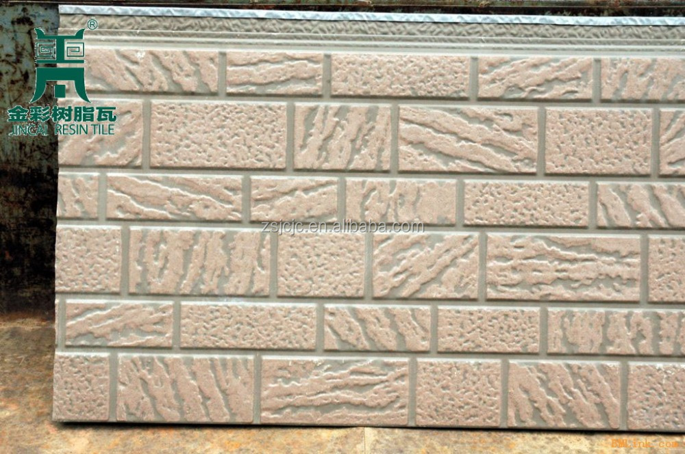 Exterior Decorative Metal PU Wall Panel Insulation Wall Panel