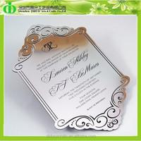 DDI-C023 Trade Assurance Stylish Acrylic Wedding Invitation Card from China Supplier