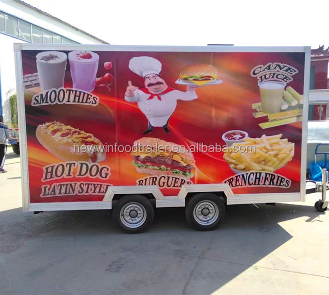 Hot sales mobile mall food truck food trailer food kiosk carts