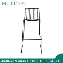Hot selling promotional new design metal bar stool with high back