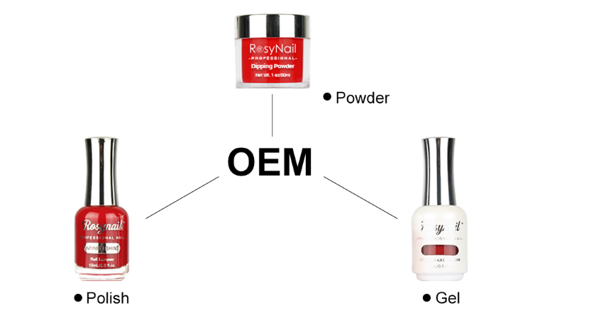 Factory OEM  Perfect Color Dip Powder 3 in 1Match Gel Polish and Nail Lacquer
