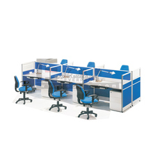 Aluminum Partition 0ffice Cubicle Workstation, Office Desk Specification 6 Person Cluster Workstation