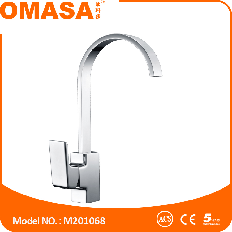 China factory ACS and CE brass kitchen faucet chrome sink mixer