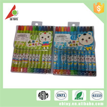 Promotion kids multicolor painting education toy wax crayon
