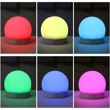 USB Rechargeable Cute Touch Night Light Multicolor LED Light Silicone Gel Pat Night Lamp for Child Bedroom Desk