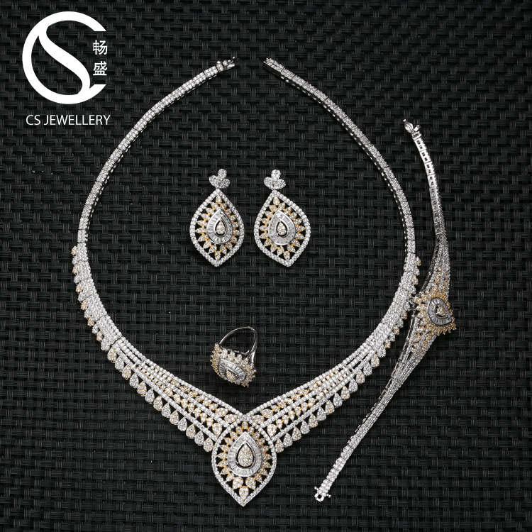B16655 Wholesale directly fashion designs luxury saudi gold jewelry <strong>set</strong> price