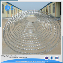 High quality 4 barbed points double strand barbed wire