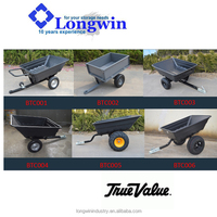 chinese atv tow behind tipping trailer