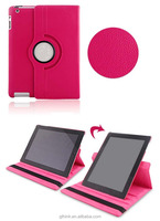 for ipad2 protective sleeve for ipad3/4 protective holster embossed leather swivel stand dormant tablet Universal