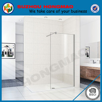 HSR02-90008 620x1850mm Walk In Shower Enclosure Wet Room Glass Cubicle Door Panel Screen