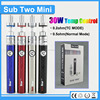 Newest style 2200mah sub two mini 30w TC e-cigarette topoo vaporizer