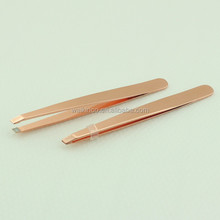 Rose Gold Color Stainless Steel Girls Eyebrow Tweezers