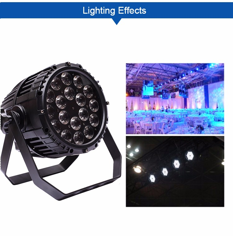 DJ disco party stage waterproof factory price big dipper 54 3w par light,rain cover for moving head light