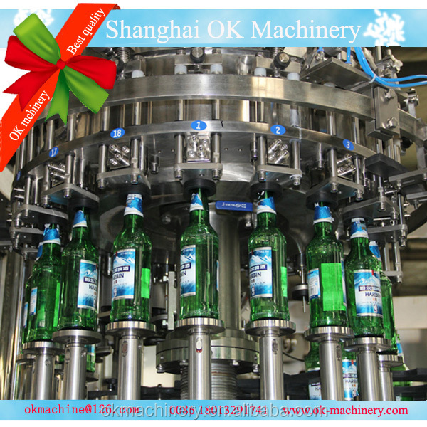 washing filling capping beer crowning machinery