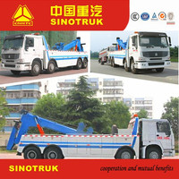 Best quality Howo 2016 8x4 6x4 tow truck wrecker and recovery truck vehicle for sale