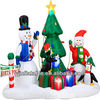 2014 lovely inflatable Christmas Santa with tree