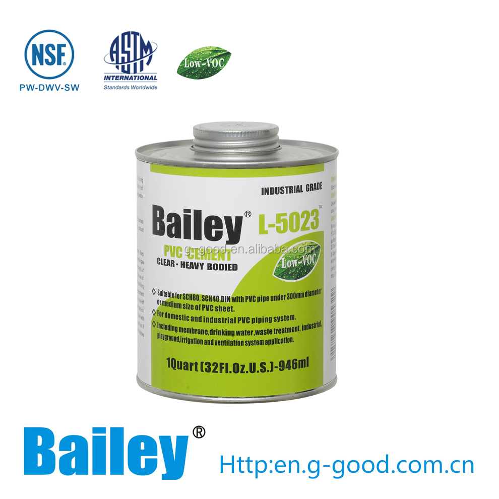 Bailey L-5023 Clear UPVC / PVC Pipe Cement