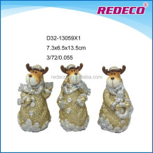 Christmas ornament resin small deer figurine