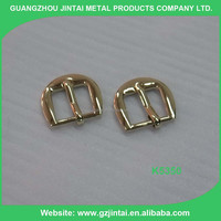 Imitation light gold color half round belt buckle used for bag, shoes and garment