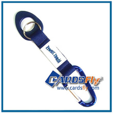 multi-function rubber carabiner keychain short lanyard with strap key ring