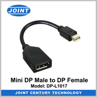 CE approved High quality White Mini dp to vga converter adapter 1080p mini displayport to vga short cable