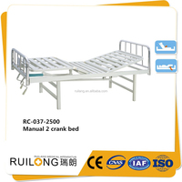 RC-037-2500 Home care medical hospital bed 2 cranks patient medical bed for sale