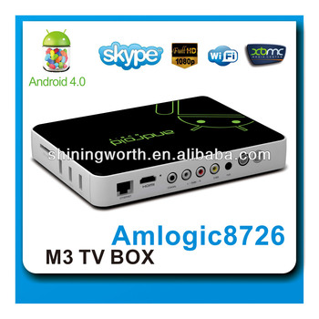 Amlogic M3 set top box with DVB-T receiver