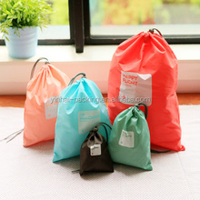 Candy color drawstring laundry bag