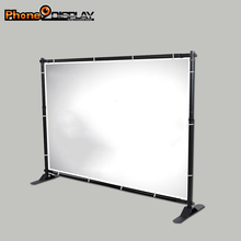 Adjustable Fabric ez tube banner stand pop up backdrops for wedding events