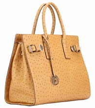 Ladies imitative ostrich leather citi trends handbags