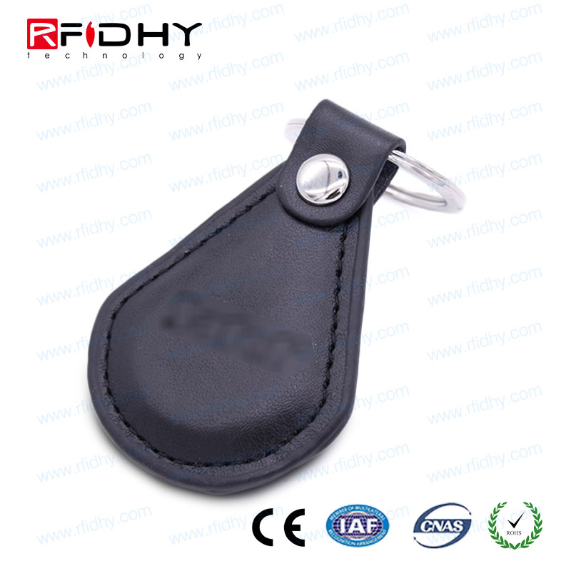 Ring or Thread 13.56MHZ MIFARE(R)4k Leather RFID Key Tag for Item Identification