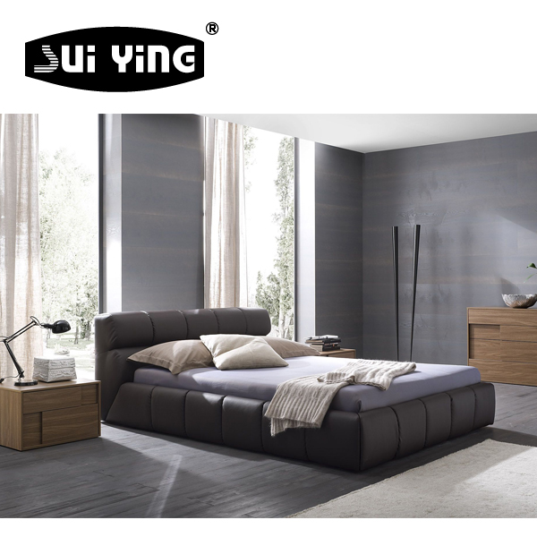 A546 modern nice design leather adult twin bed