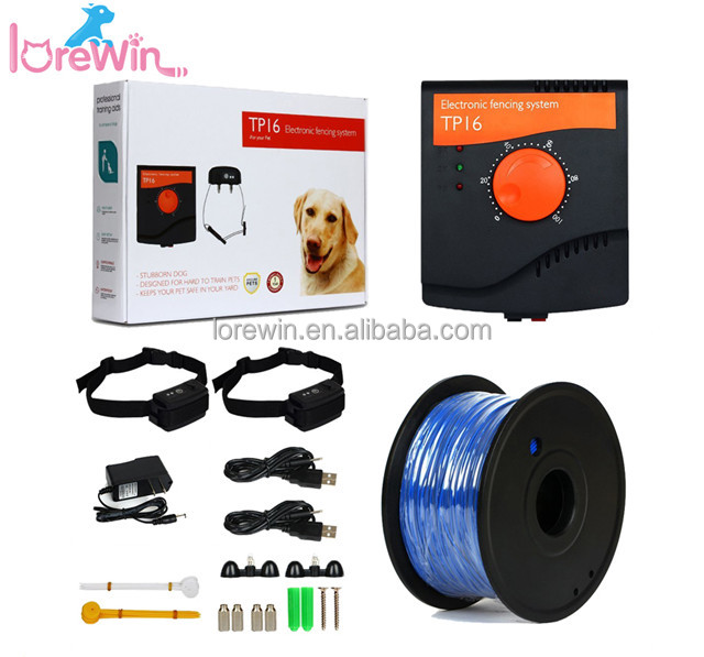 LoreWin TP16 HOT Outdoor In-Ground Wire Dog Containment Kit Electric Dog Fence