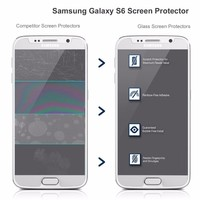 for samsung handphone S7 and s7 edge for samsung S6 Edge Tempered Glass/mobile phone s6 glass film protector