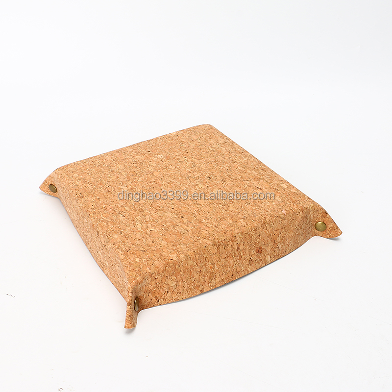 Wholesale cork corkwood box eco-friendly cork candy plate customized Bonbon box China factory supply cork corkwood storage