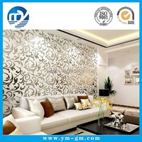 Popular glitter flowers wedding decorations wall paper with arabic design