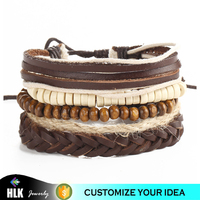 Trendy Fashion Accessory Hemp Rope Wooden