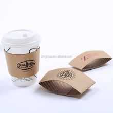 Disposable printed paper custom hot coffee cup sleeve with logo