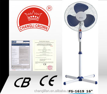 stand fan with X closs base /CE & CB