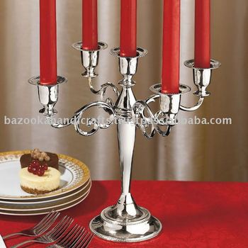 Metal Candle Holder, Table Top Candle Holder, Candelabra, Branched Candle Holder