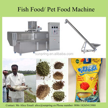 Sunpring 200-300kg per hour floating fish feed making machine for sale, fish food pellet twin- screw extruder