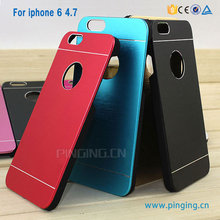 New Slim cell phone motomo Brushed Metal Case For iPhone 6 aluminum pc case for iphone 6