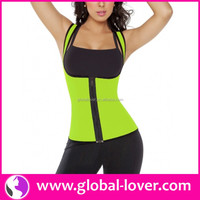 Paypal accept ladies neoprene sliming zipper waist training corsets
