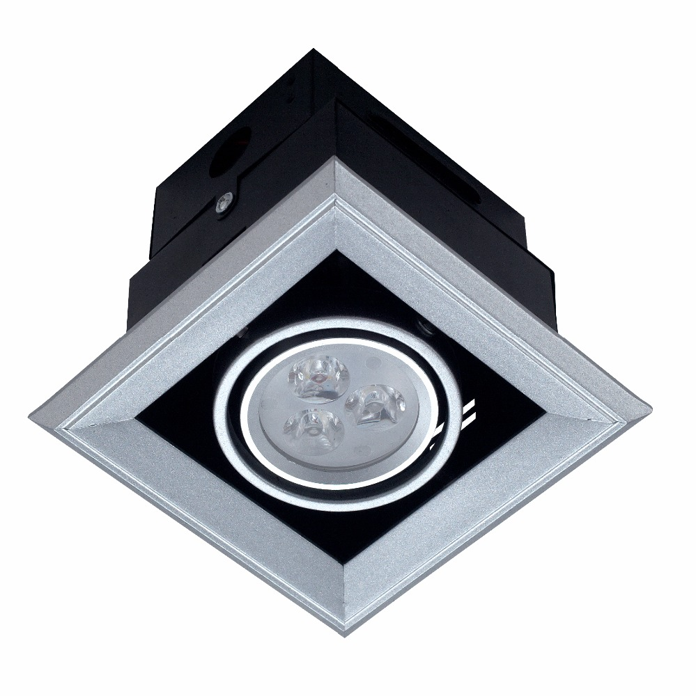 Led square downlight 3w/5w/7w/9w/12w for shopping mall