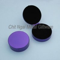 Portable pocket round cosmetic case