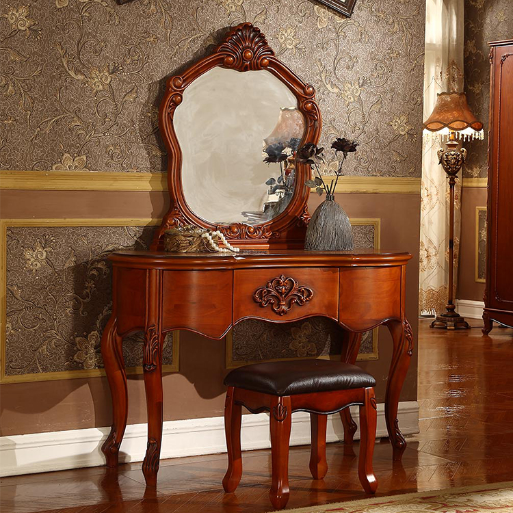 Factory direct sale simple dressing table designs with mirrored