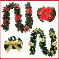 DM 641Wholesale holiday decoration simulation rattan artificial garland Christmas wreath