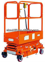 Four-wheel mobile scissor lift with handrail--JCPT(Mini)