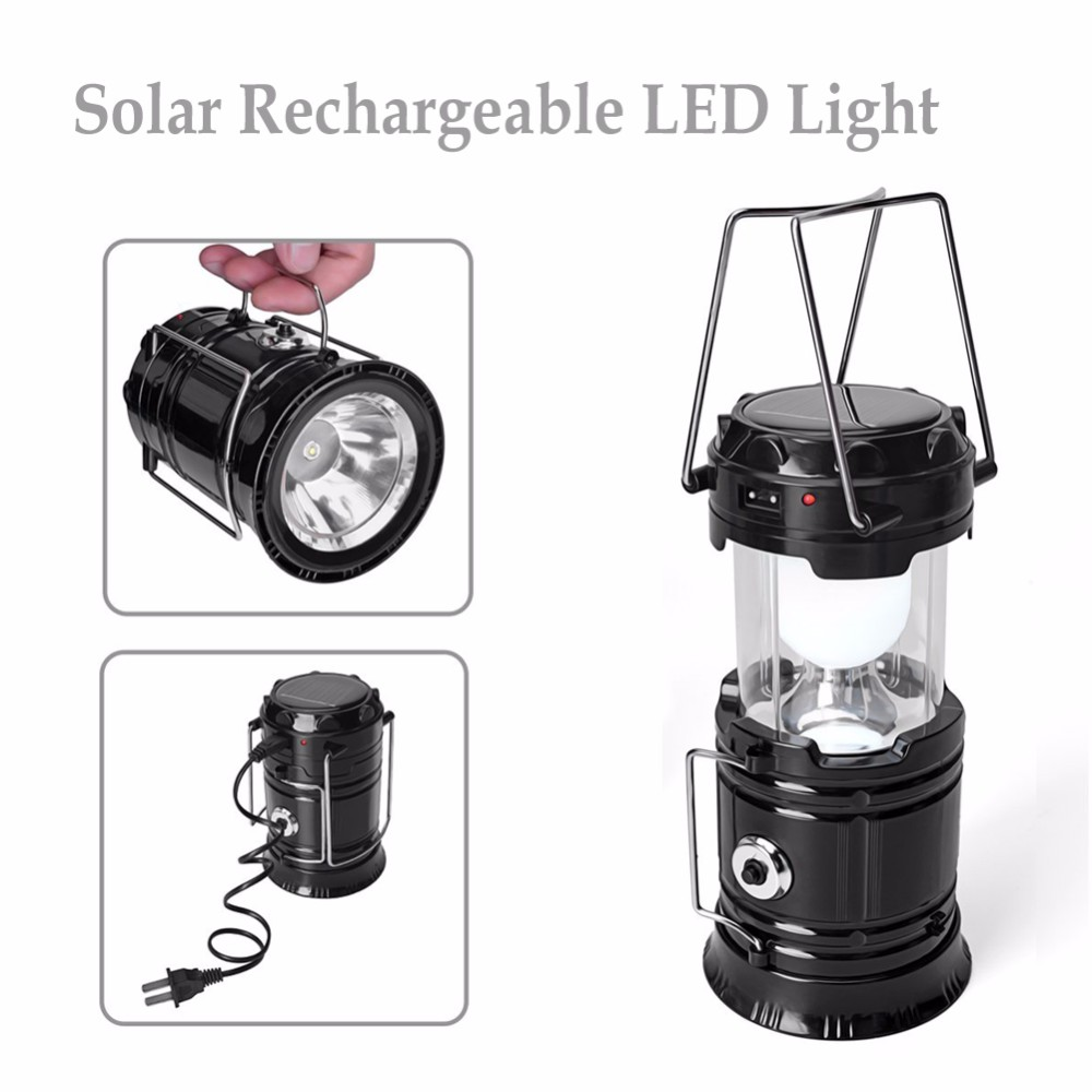 China Suppliers Portable Outdoor LED Solar Camping Lantern Rechargeable Light